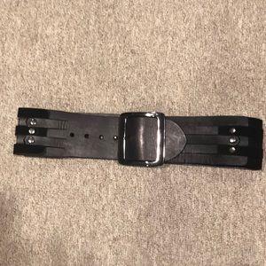 Etcetera Genuine Leather/ Suede  Woven Belt-Med